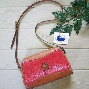 Vintage Red Dooney & Bourke Large Crossbody Bag